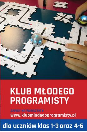 Bezpłatne warsztaty z programowania dla dzieci Kliknięcie w obrazek spowoduje wyświetlenie jego powiększenia